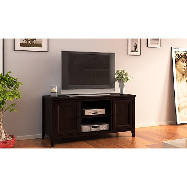 espresso 50 inch plasma tv lcd stand media console free shipping today 14178184. Black Bedroom Furniture Sets. Home Design Ideas