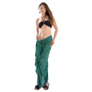 1 World Sarongs Women's Abstract Leaf Sarong (Indonesia)