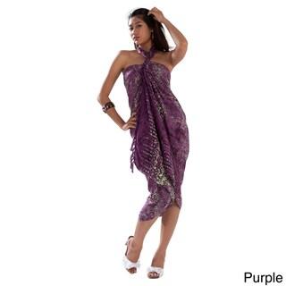 1 World Sarongs Women's Abstract Swirl Sarong (Indonesia)