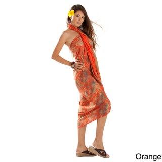 Handmade 1 World Sarongs Women's Paisley Sarong (Indonesia)
