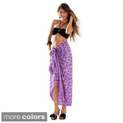 1 World Sarongs Women's Purple Gecko Sarong