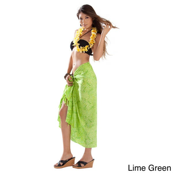 Handmade 1 World Sarongs Women's Gecko and Leaf Sarong (Indonesia)