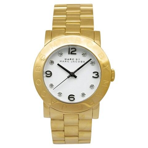 Marc Jacobs Women's 'Amy' Crystal Gold Stainless Steel Watch