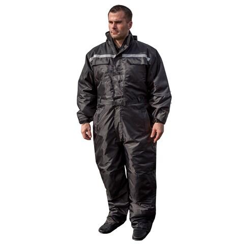 Mossi Men's Xtreme 1-piece Black Winter Snowsuit