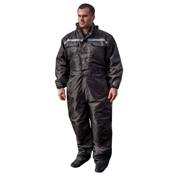 Mossi Men's Xtreme 1-piece Black Winter Snowsuit