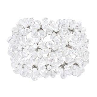 Handmade Clear Mini Floral Blossom Crystal Sterling Silver Bracelet (Thailand)