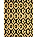 Hand-tufted Wool Black Contemporary Abstract Gold Ikat Rug - 7'9 x 9'9