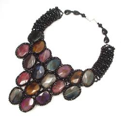 Handmade Egyptian Princess Multicolor Agate Drape Necklace (Thailand) - Thumbnail 1