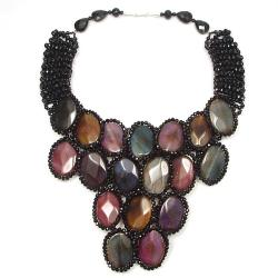 Handmade Egyptian Princess Multicolor Agate Drape Necklace (Thailand)