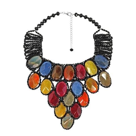 Handmade Egyptian Princess Multicolor Stone Collar Necklace (Thailand)