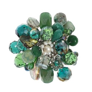 Link to Handmade Green Blossoming Lotus Aventurine Stone Floral Pin or Brooch (Thailand) Similar Items in Charms & Pins