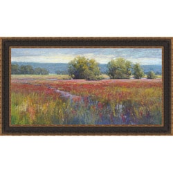 Amanda Houston 'Flowing Through Crimson' Framed Print