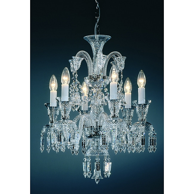 6-lights Lead Crystal Chandelier