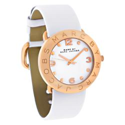 Marc Jacobs Women's MBM1180 'Amy' White Leather Watch