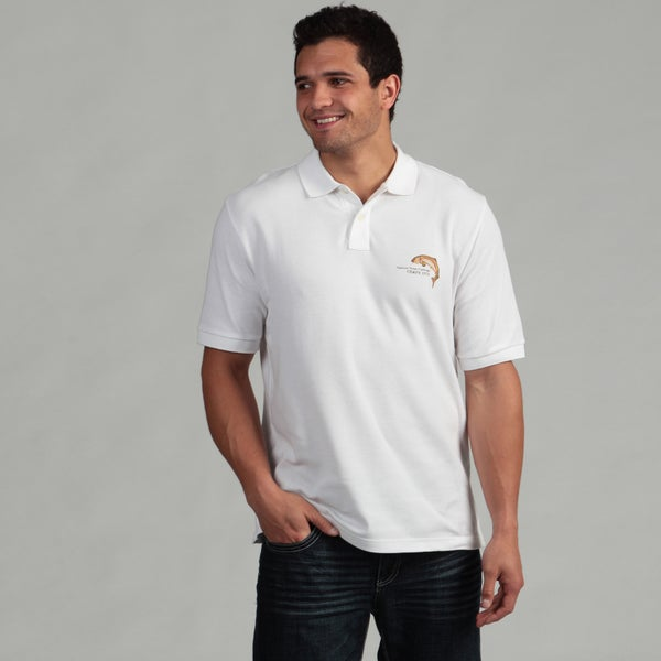 Chaps Men's 'Sunset Forest Lake' Polo