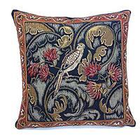 Corona Decor French Woven 'Bird and Flower' Pillow