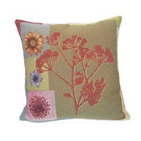 Corona Decor French Woven Flower Theme Decorative Pillow