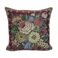 Corona Decor French Woven Flower Theme Suqare Decorative Pillow