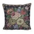 Corona Decor French Woven Flower Theme Decorative Pillow with Knife Edging