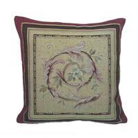 Corona Decor French Woven Filligree Flower Theme soft Poly Insert Decorative Throw Pillow