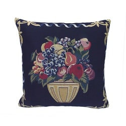 Corona Decor French Woven Fruit Theme Decorative Pillow