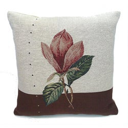 Corona Decor French Woven Orchid Decorative Pillow