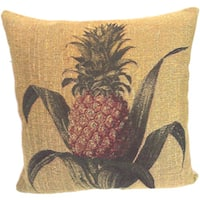 Corona Decor French Woven Pineapple Feather and Down Filled Decorative Pillow