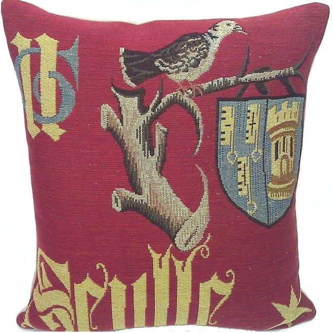 Corona Decor French Woven Traditional Feather and Down Filled Decorative Pillow