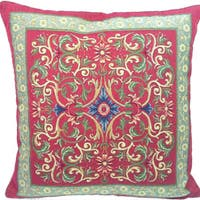 Corona Decor French Woven Transitional Poly Filled Decorative Pillow
