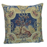 Corona Decor French Woven Animal print Poly Filled Decorative Pillow