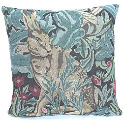 Corona Decor French Woven Rabbit Feather and Down Filled Decorative Pillow