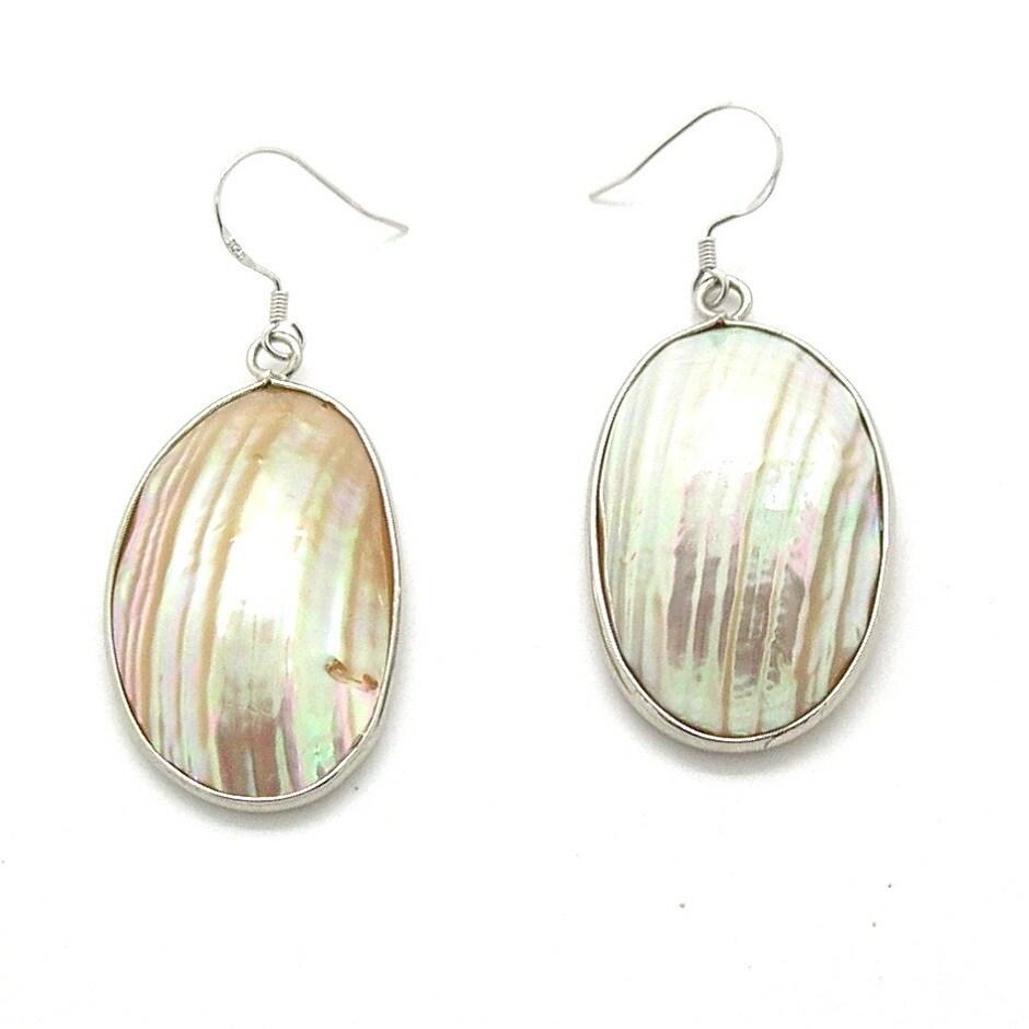 Pearlz Ocean White Shell Dangle Earrings