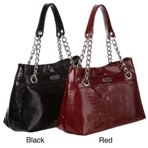 9acd9b44796 Shop Kenneth Cole Reaction Cute Croco Embosseed Tote Bag - Free ...