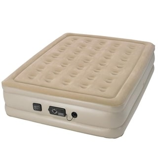 Serta Raised Queen-size Airbed with NeverFlat AC Pump