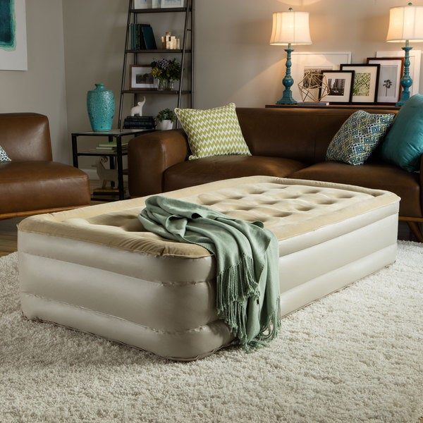 Shop Serta Raised Twin Size Airbed With Insta Iii Ac Pump Free