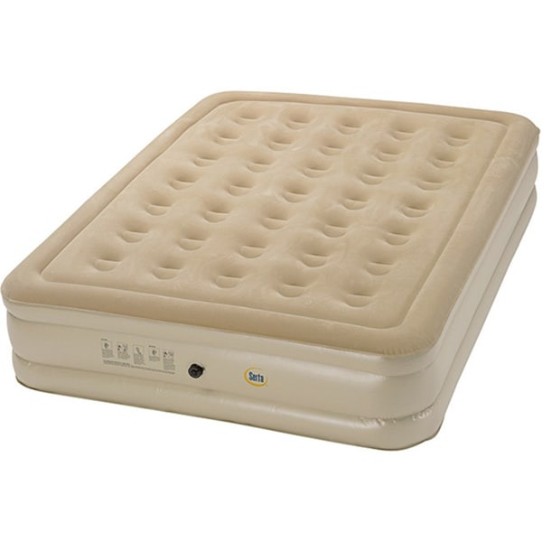 Serta Raised Queen-size Airbed with External AC Pump