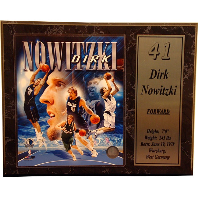 Dallas Mavericks Dirk Nowitzki Stat Plaque