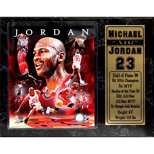 Chicago Bulls Michael Jordan Stat Plaque - Thumbnail 0