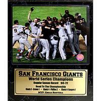 San Francisco Giants 2010 World Series Champions Stat Plaque