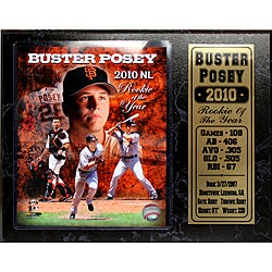 San Francisco Giants Buster Posey 'Rookie of the Year' Stat Plaque