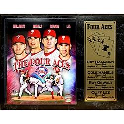 Philadelphia Phillies 'Four Aces' Stat Plaque