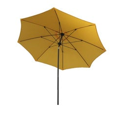 California Umbrella 9' Rd Aluminum/Fiberglass Rib Market Umbrella, Crank Open, Push Tilt, Bronze Frame Finish, Polyester Fabric - Thumbnail 1
