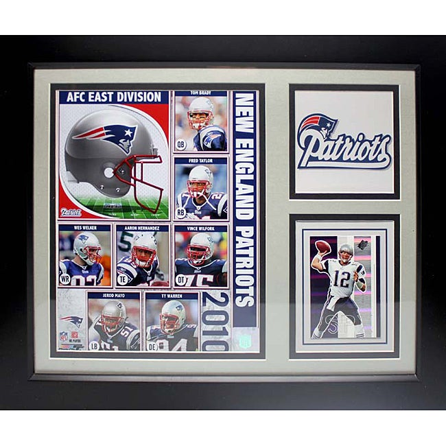 New England Patriots 2010 Deluxe Stat Frame