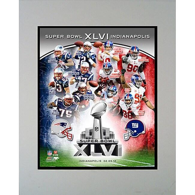 Super Bowl XLVI Matted Photo