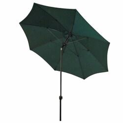 California Umbrella 9' Rd Aluminum/Fiberglass Rib Market Umbrella, Crank Open, Push Tilt, Bronze Frame Finish, Polyester Fabric - Thumbnail 1