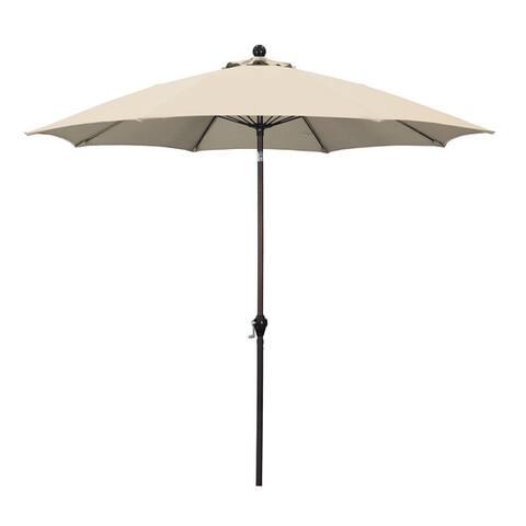 Escada Designs Bronze 9-foot Crank-tilt Ribbed Market Umbrella