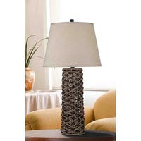 Design Craft Holbrook 30-inch Table Lamp - Light and Dark Rope