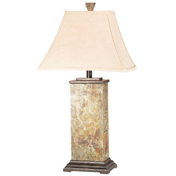 Marvelous Design Craft Landon Natural Slate 29 Inch Table Lamp   Free Shipping Today    Overstock.com   14179298