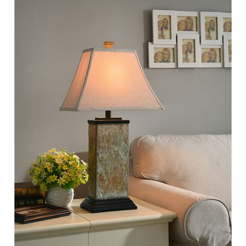 Buy table lamps online at overstock our best lighting deals laurel creek linden natural slate 29 inch table lamp aloadofball Gallery