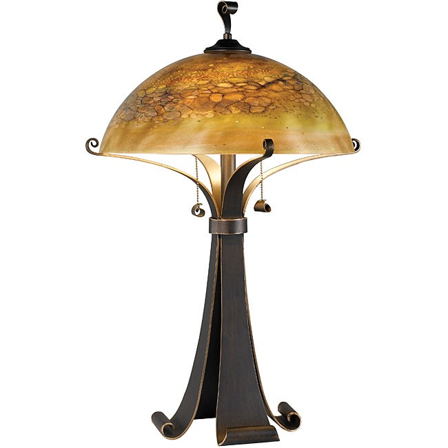 Page 28-inch Chocolate Caramel Finish Table Lamp